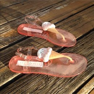 17a174f395e0 Katy Perry Collections Shoes - Katy Perry Strawberry Jelly Sandals 9 Ice  Cream